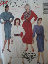 McCALL'S #4473 - LADIES WESTERN STYLE FRONT BUTTON DRESS & SCARF PATTERN 10-14FF