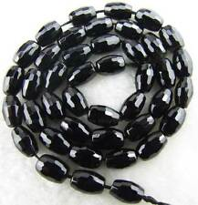 """6x9mm Rice Faceted Natural Onyx square Gemstone Beads 15"""""""