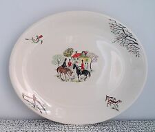 50s 60s Retro Vintage Kitsch Alfred Meakin Tally Ho Serving Platter Meat Plate