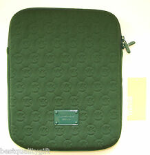 NEW-MICHAEL KORS ELECTRONICS DARK GREEN NEOPRENE MK LOGO IPAD TABLET CASE,COVER
