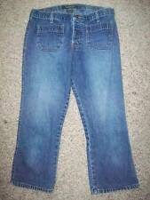Abercrombie & Fitch Cropped Capri Button Fly Low Rise Blue Jeans Size 2 @ cLOSeT