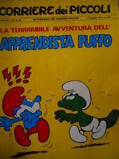 Corriere dei Piccoli 24 1971 La terribile avventura dell'apprendista PUFFO [C18]