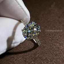 Certified 3.25Ct Excellent VVS1 Diamond Solitaire Engagement Ring 14K White Gold