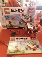 lego angry birds set 75822 complete with figures piggy and red bird boxed