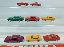 AV181-0,5# 8x Wiking H0 PKW: Ford Sierra+Capri, BMW, Porsche 911+Carrera, s.g