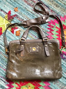 Marc by Marc Jacobs Laptop Bag Patent Leather Grey