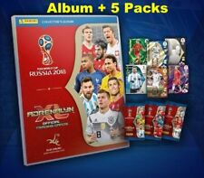 2018 FIFA Russia World Cup Panini Adrenalyn XL Album Binder Folder + 5 Packs
