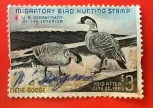 U.S. Stamp 1963 $3.00 US Department of Interior Migratory Bird Hunting Stamp
