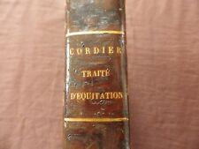 CORDIER TRAITE D EQUITATION  EO 1824    CHEVAL DRESSAGE SAUMUR