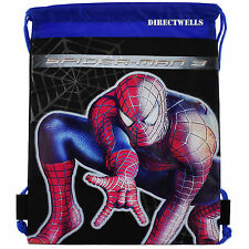 Spiderman Black Drawstring Bag School Backpack
