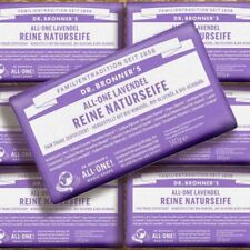 DR. Bronner 'S MAGIC SOAP LAVANDA 140g Naturkosmetik Fairtrade bio pezzo di sapone