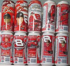 BUDWEISER 16 OZ. CANS, 10 CAN SET OF DALE EARNHARDT JR.,  ALUM., B.O. GRADE 1+