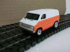 AFX Dodge van two tone paint u-haul orange solid sides and top, body only