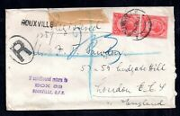 South Africa 1925 Rouxville Registered Cover to London WS16466