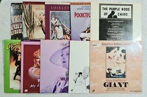Lot of 10 Laserdiscs, Classics, Musicals, Dramas