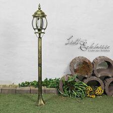 Rustikale Stehleuchte Gartenleuchte Brest Antik-Gold Gartenlaterne Wegleuchte