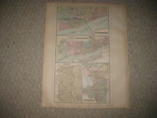 Antique 1887 Harrisburg Williamsport Erie Scranton Pennsylvania Mitchell Map Nr