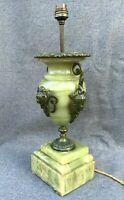 Huge antique french Empire style bronze lamp 19th century onyx marble goddess
