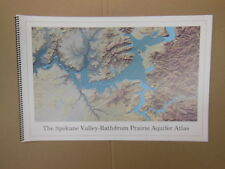 The Spokane Valley WA - Rathdrum Prarie ID Aquifer Atlas / Map 25pages oversized