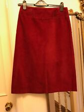 Red wine cord D&G skirt lined IT42 UK size 8- 10, 100% cotton corduroy