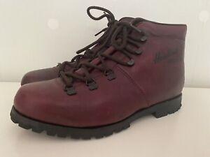 Hawkings Helvellyn Vintage Vibram Sole Walking Boots Size UK 7.5 Oxblood Leather