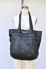 Zadig & Voltaire Black Leather Shoulder Bag Supple Distressed Leather Big Skull