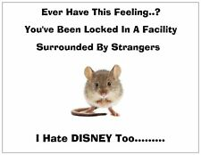 """Jail Prison Inmate Postcard """"Disney Humor"""""""