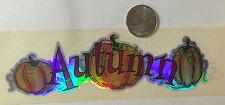 AUTUMN METALLIC SATIN ACCENT title Sticker Strip (1pc)Hambly •FALL•PUMPKIN•VINE