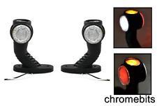 2 X RED WHITE AMBER LED SIDE STALK MAKER LIGHTS TRUCK TRAILER CHASSIS 12V 24V