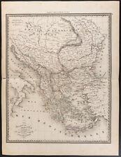 1840 - Carta antica Turchia e di Grecia (Dufour Picquet) Türkiye mappa