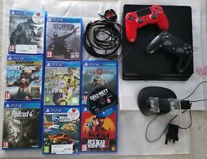 Playstation 4 Console Bundle 2 Controllers, 9 games, dual controller charger