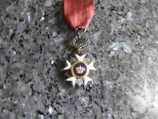 belle medaille belge chevalier ordre de la couronne ancien modelle .