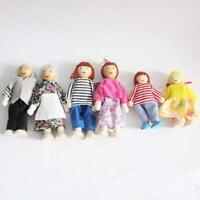 6 x Wooden Furniture Dolls House Accessories Family Miniature Doll Toy For Kids