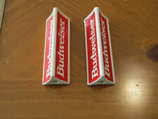 (2) Budweiser beer Tap Handle 3 1/2'' tall 3 sided kegerator or gear shifter