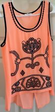 Mine peach & blue embroidered top size Small unworn!!