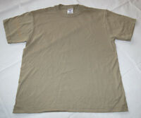 Boys youth Jerzees Heavyweight Blend short sleeve t shirt Khaki small S 6-8 NWOT