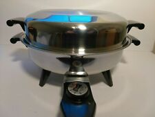 Gorgeous REGAL Stainless Steel Society Model 7452 Electric Skillet Frying Pan