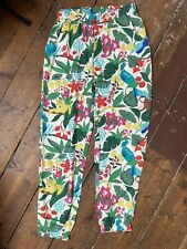 Mini Boden Jungle Print Girls Trousers 11 Years Leopard Monkey Summer