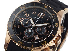 NEW MARC JACOBS BLACK ROCK ROSE GOLD CHRONOGRAPH LADIES WATCH MBM2553