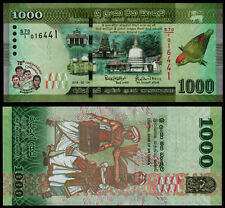 SRI LANKA 1000 RUPEES (P NEW) 2018 COMMEMORATIVE ISSUE UNC