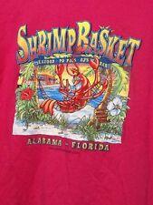 Shrimp basket Alabama Florida Sz XL Tshirt