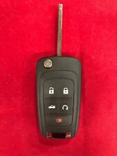 New Chevy OEM Flip Remote Keyless Entry Fob PEPS Key with Uncut Blade 13584829