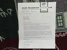 1965 HAND SIGNED LETTER BY JACK BRABHAM - REPCO MOTORS DRIVING TEST CAR SALES