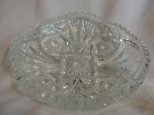 Vintage Depression Era? NUCUT Clear Glass Crystal Candy / Nut Salad.Dish Bowl