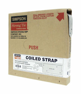 COILED STRAP CS16-R 25FT