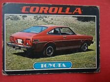 TOYOTA COROLLA  1976 Topps  CAR GUM TRADING CARD # 86 HEBREW ISRAEL