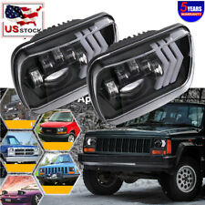 "2x DOT 16D 380W 7X6"" Hi/Lo White DRL LED Headlights Sealed Hi/Lo AmberTurn Beam"