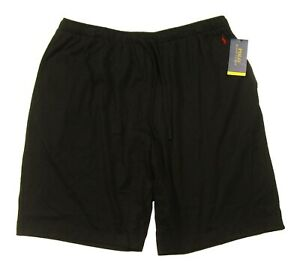Polo Ralph Lauren Men's Black Solid Cotton Supreme Comfort Sleep Shorts
