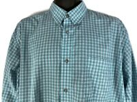 Wrangler Men's XL Western Shirt Riata Button Up Long sleeve Teal Plaid Used