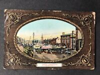 Vintage Real Photo Postcard #TP1271: Great Yarmouth Market Place: Milton